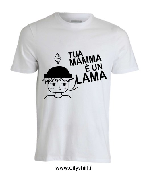 Shirt Lama LampaCityshirt T E' Un Dario La Mamma Di Tua F3KJcTlu1