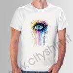 maglia occhio colorato